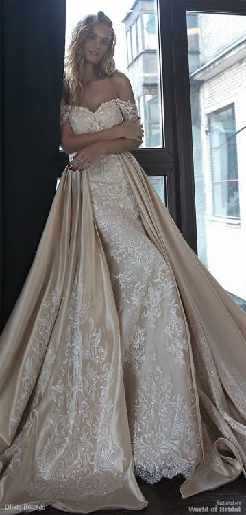 Olivia Bottega 2019 Mermaid Wedding Dresses With Detachable Skirt Off  Shoulder Glitter Appliques Gold Bridal Gowns Country Wedding Dress Off The  Rack