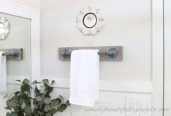 bathroom towel holder home depot hanging ideas rack setup pinterest shelf  hand paper