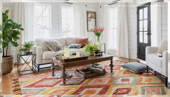 Where to buy farmhouse style rugs as seen in HGTV's Fixer  Upper