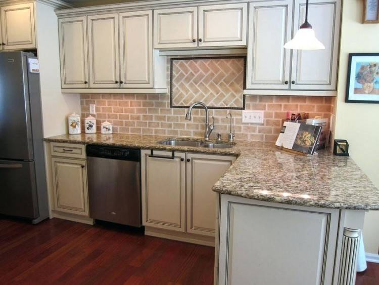 brick backsplash