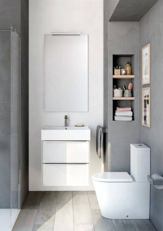 Architecture: Small Bathroom