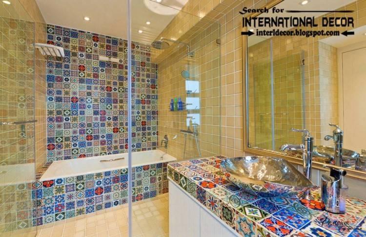 glass bathroom tiles ideas