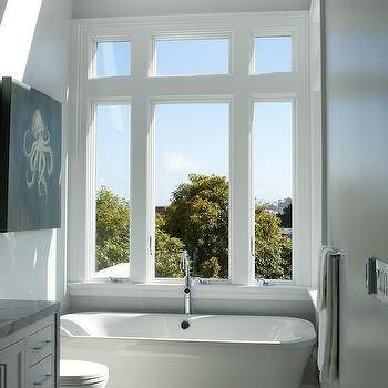 Unexpected Details: Window over Bathroom sink | L