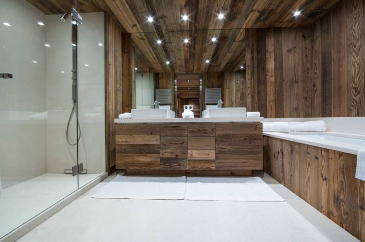 He  chose heated flooring, a steam shower and a fancy toilet featuring a bidet,