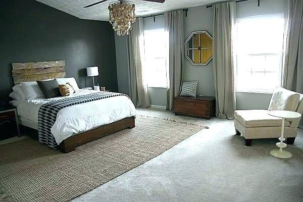 I like to do this in the bedroom because  it's nice to anchor the space, ground the room, and add a little bit of  color