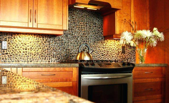 Tuscan Backsplash Cool Style Kitchen Design With Broken White Kitchen  Cabinet With Drawers And Also Marble Flooring And Patterned Ceramic Tiles  Tuscan
