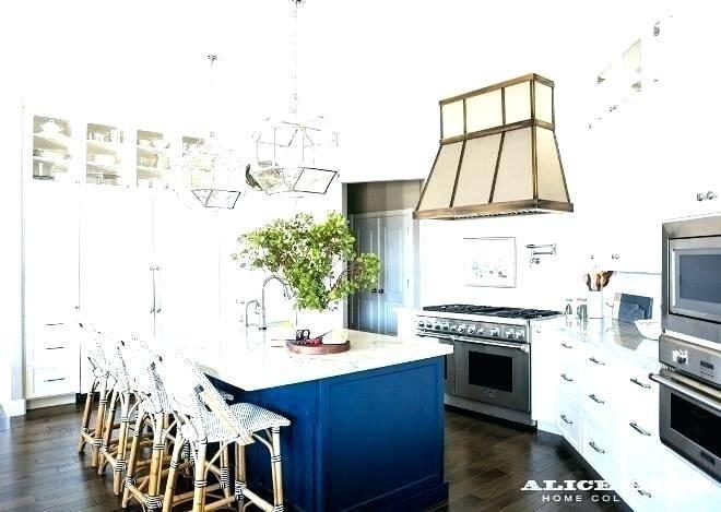 Navy  Blue Tile White Kitchen Ideas Sea Glass Grey Subway Backsplash