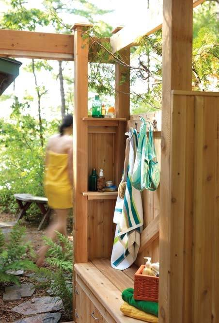 Click through for other outdoor shower designs  you'll want