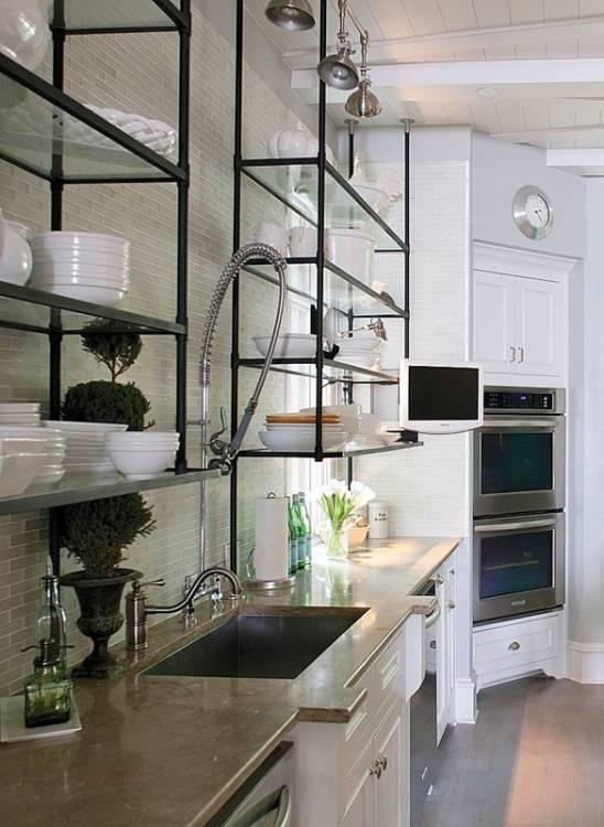 Open Shelves Kitchen Design Ideas Lovely Open Shelving In Kitchen Ideas 4  Open Shelving Kitchen With Regard To Open Cabinet Kitchen Ideas Decor Open  Kitchen