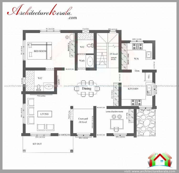 1650 Sq Ft House Plans Kerala House Floor Plans Free 1650 Sq Ft Modern  Kerala Home