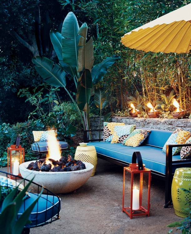 Check it out! One of the best ways to start creating outdoor living spaces