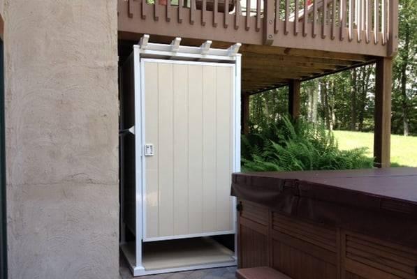 Sensational Best 25 Outdoor Shower Enclosure Ideas On Pinterest  Portable Outside Shower Enclosures Pic