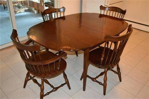 The price reduction on this stunning Hitchcock table is a unique  opportunity for the right buyer