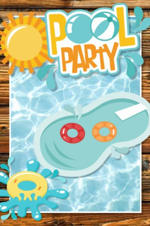 Pool Party Design Vektorgrafik