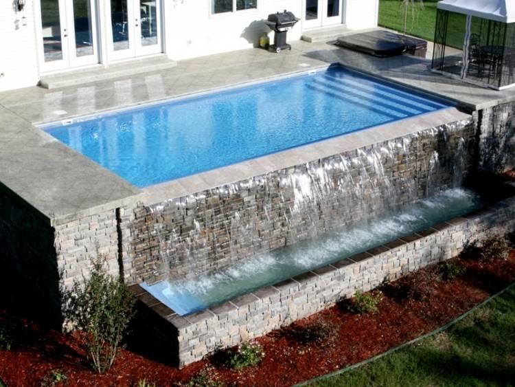 Free form fiberglass pool design Oswego, IL