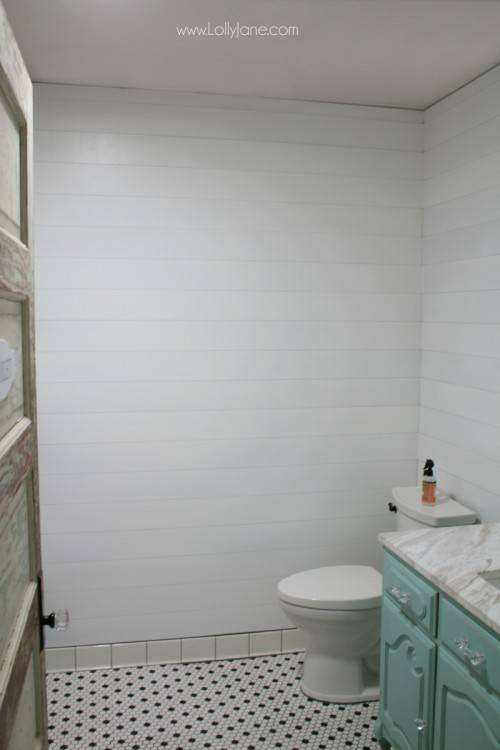 bathrooms with shiplap