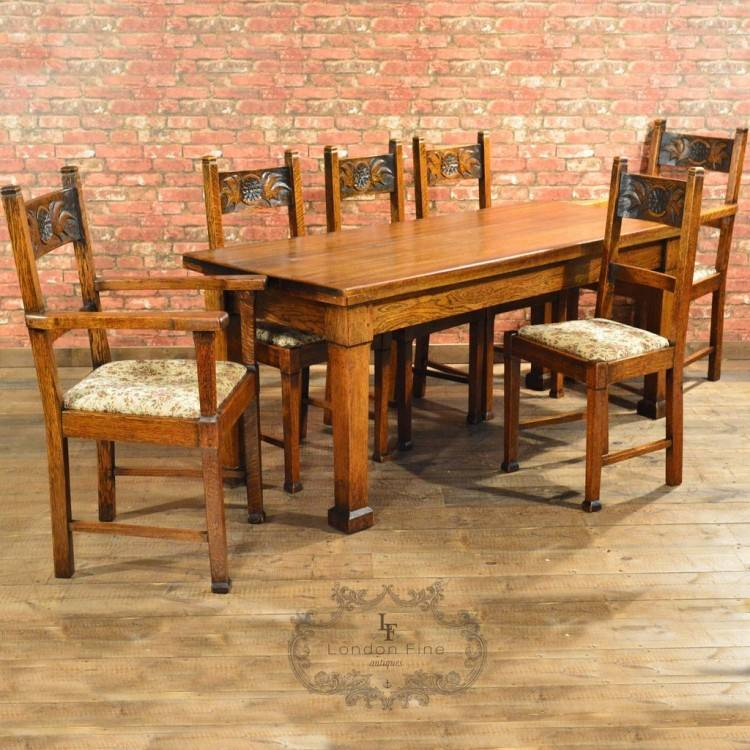 arts and crafts dining room table man craftsman style dining room table