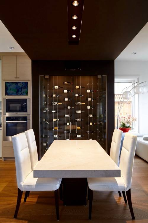 Back To Dining  Room Table with Wine Rack Underneath