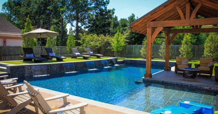 simple backyard pool designs ideas for backyard pool and landscaping log home  designs and floor plans