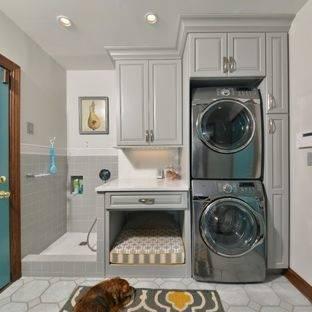 bathroom laundry room combo floor  plans