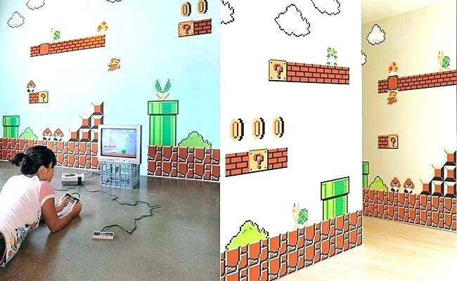 super mario brothers bedroom wallpapers for kids