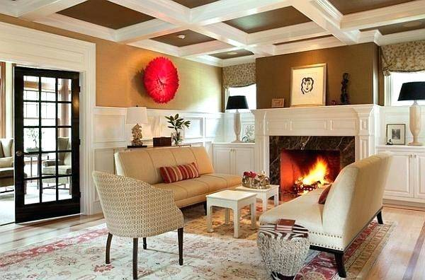 African Living Room Decor In Accord With Green Exterior Art Designs