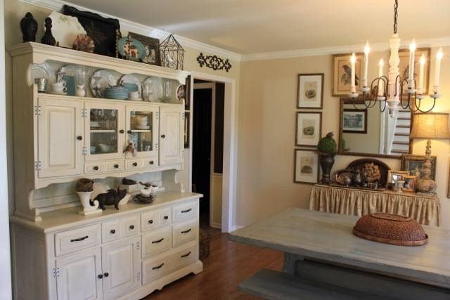 Kitchen: Outstanding Painted Dining Room Hutch Ideas Gallery Dining  With Regard To Dining Room Hutch