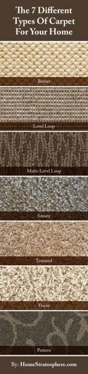 different styles of carpet