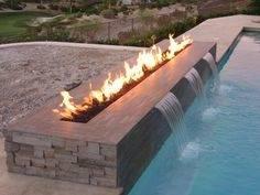 Fire Pit Near Swimming Pool Rectangular Pool Designs and Shapes