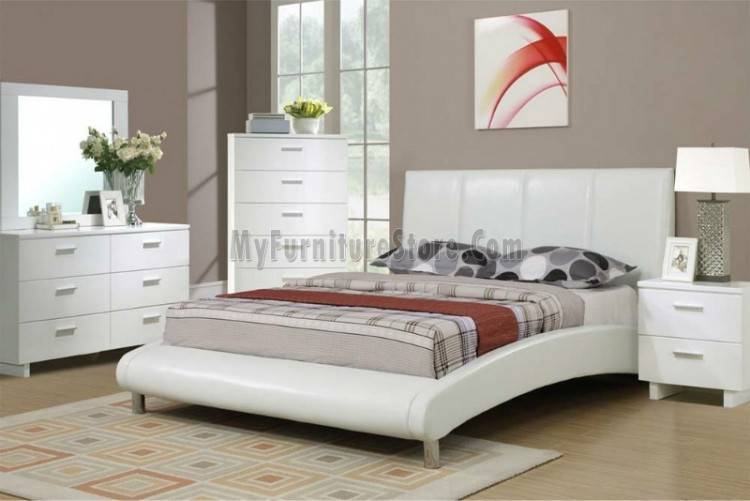 Poundex F9270 Coastal Living White Bedroom