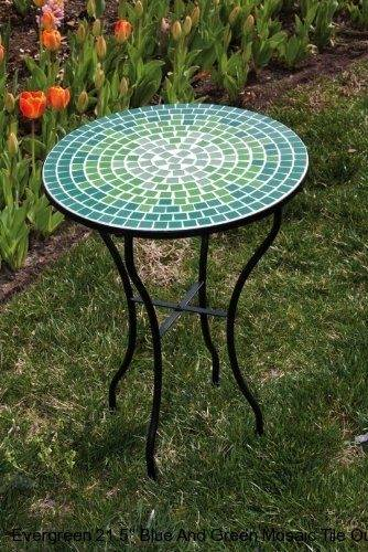 mosaic tile patio table coffee outdoor round