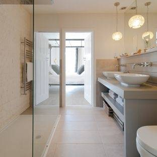 paint grey  and beige bathroom