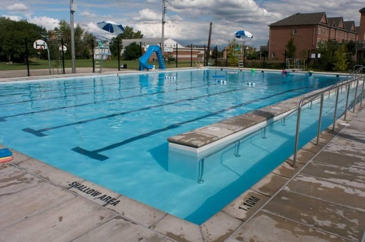 Pool Deck Stanford Swim Camp Getting Ready