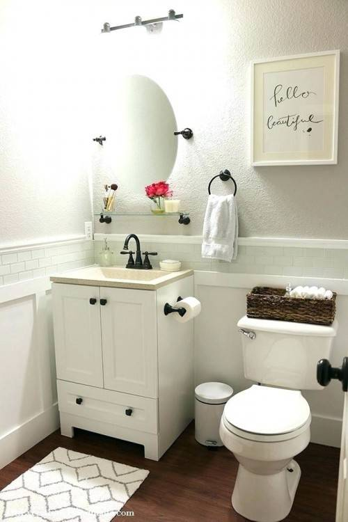 tiny half bathroom ideas
