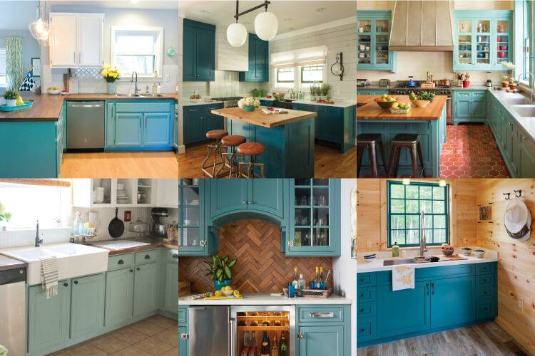 Energize your kitchen by painting your cabinets