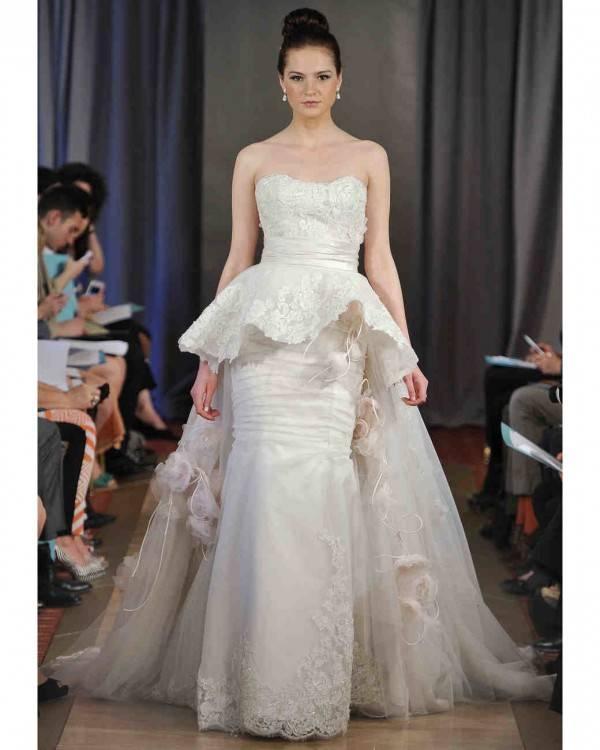 the bridal fashion department