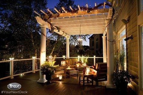Trex Outdoor Lighting and Railing can really make your outdoor living space  POP and can be installed with the help of our DIY deck videos