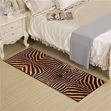 VERSAILTEX Non Slip Thick Shaggy Chenille Bathroom Rug Mat Extra Soft and  Absorbent Striped