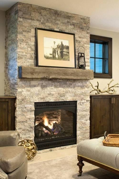 beach house fireplace