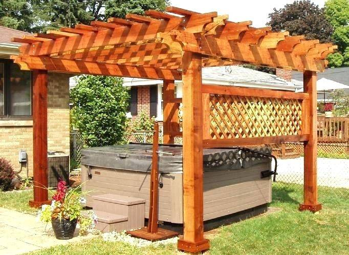 D Solid Wood Pergola