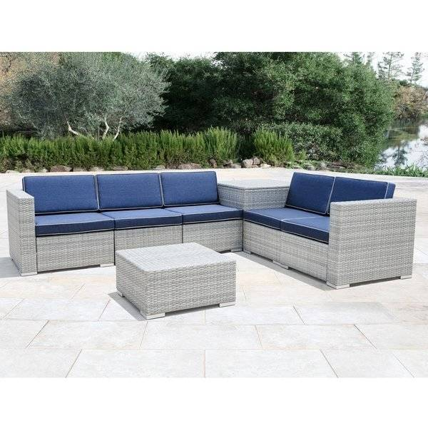 overstock wicker furniture 6 piece brown wicker patio furniture set  overstock outdoor sofas