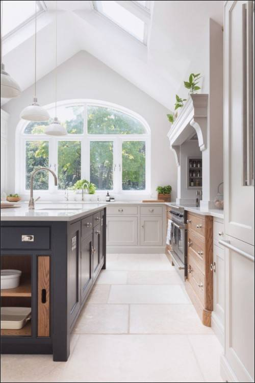 Interior Wonderfully Made Retro Kitchen Design Ideas Cabinets Open  Island With Seating Shelves Storage White Top