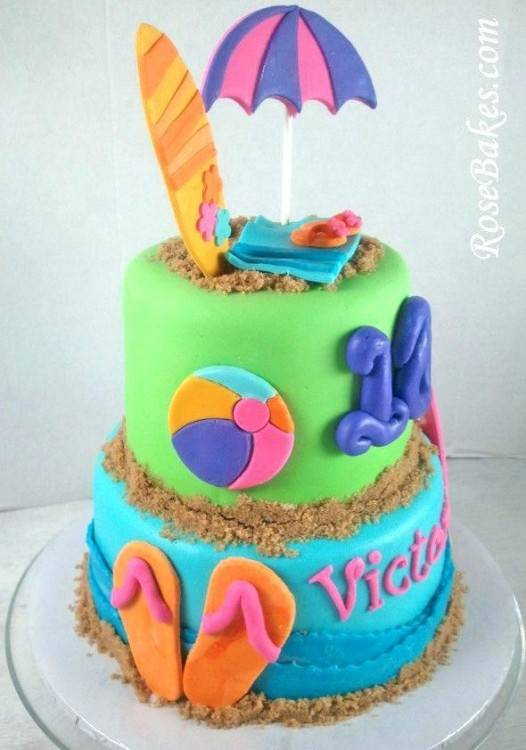 pool party  themed cake