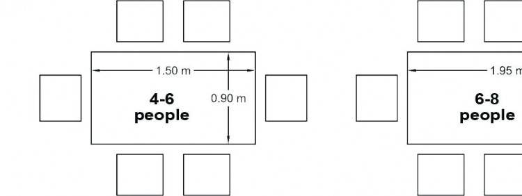 I intend to use this  seating arrangement for 6, but move everyone to the long sides for 8
