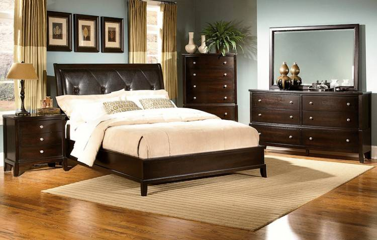 com: Atlantic Furniture Portland Twin XL Traditional Bed in Walnut:  Kitchen & Dining.