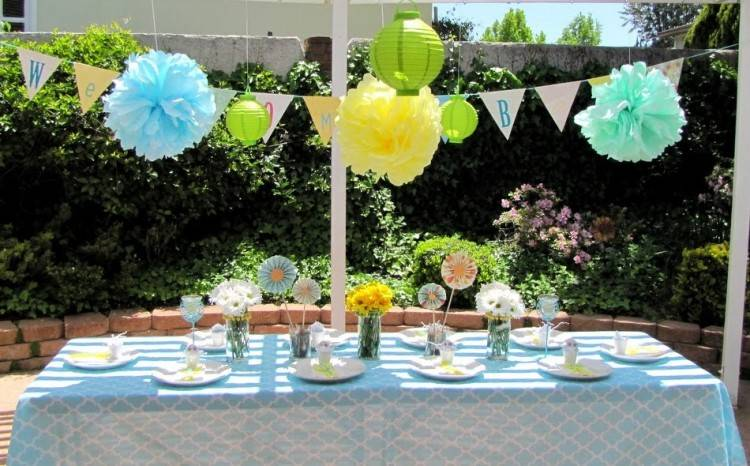 outdoor baby shower decoration ideas