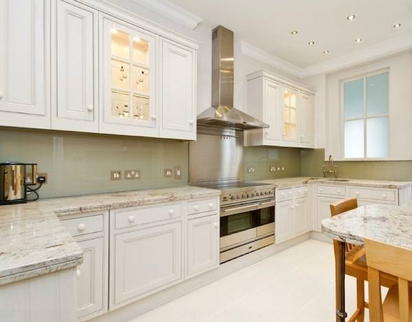 glass cabinet doors white ideas contemporary Glass kitchen