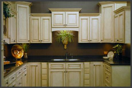 antique white glazed kitchen cabinets examples