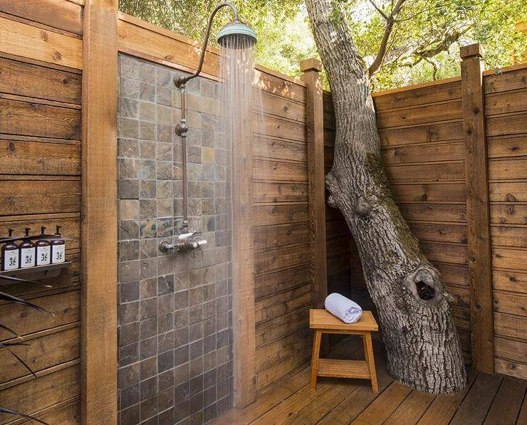 Bathroom : Splendid Small Outdoor Bathroom Ideas With Brick Steps Stone And  Shower Bath Faucet Also Wall Maounted Wash Basin Enjoyable Outdoor Shower  Design