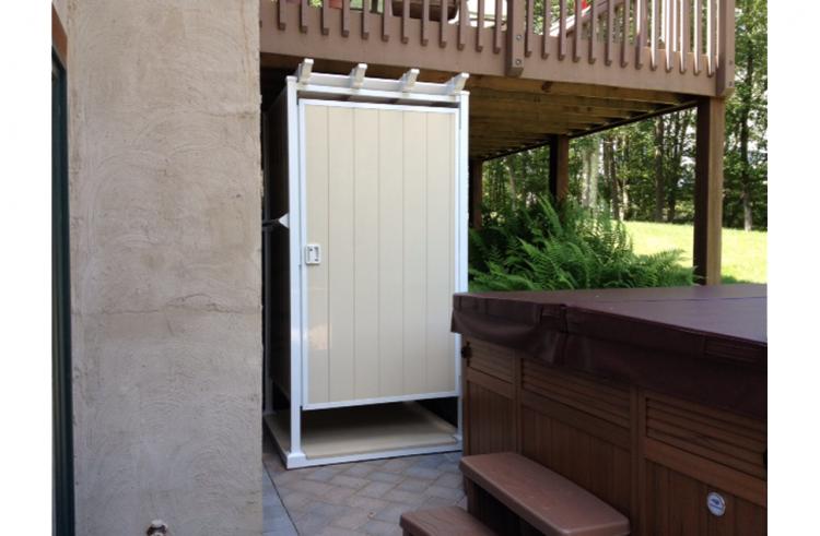 prefab outdoor shower enclosures showers enclosure kits